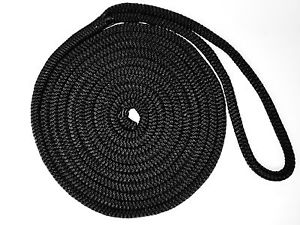 Dock Line Black Nylon 12mm X 7.5Mtr